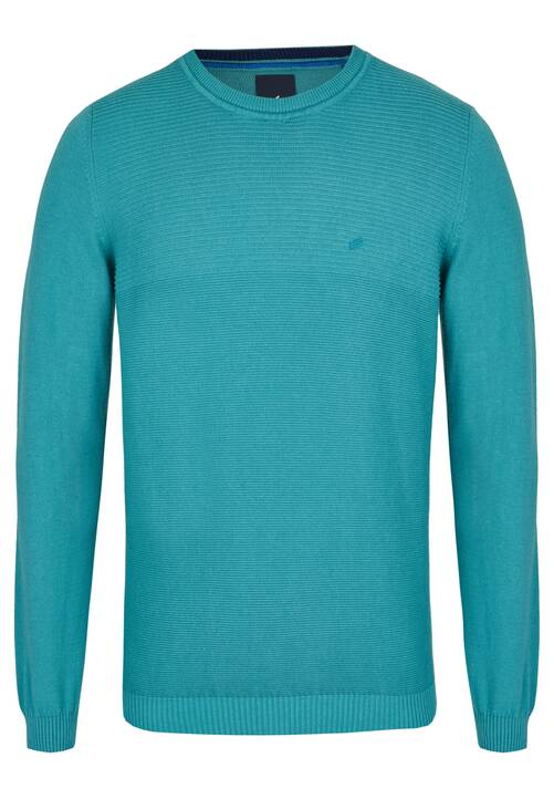 CREW NECK PULLOVER, turquoise