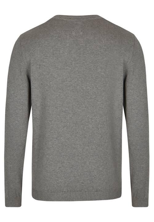 CREW NECK PULLOVER, grey
