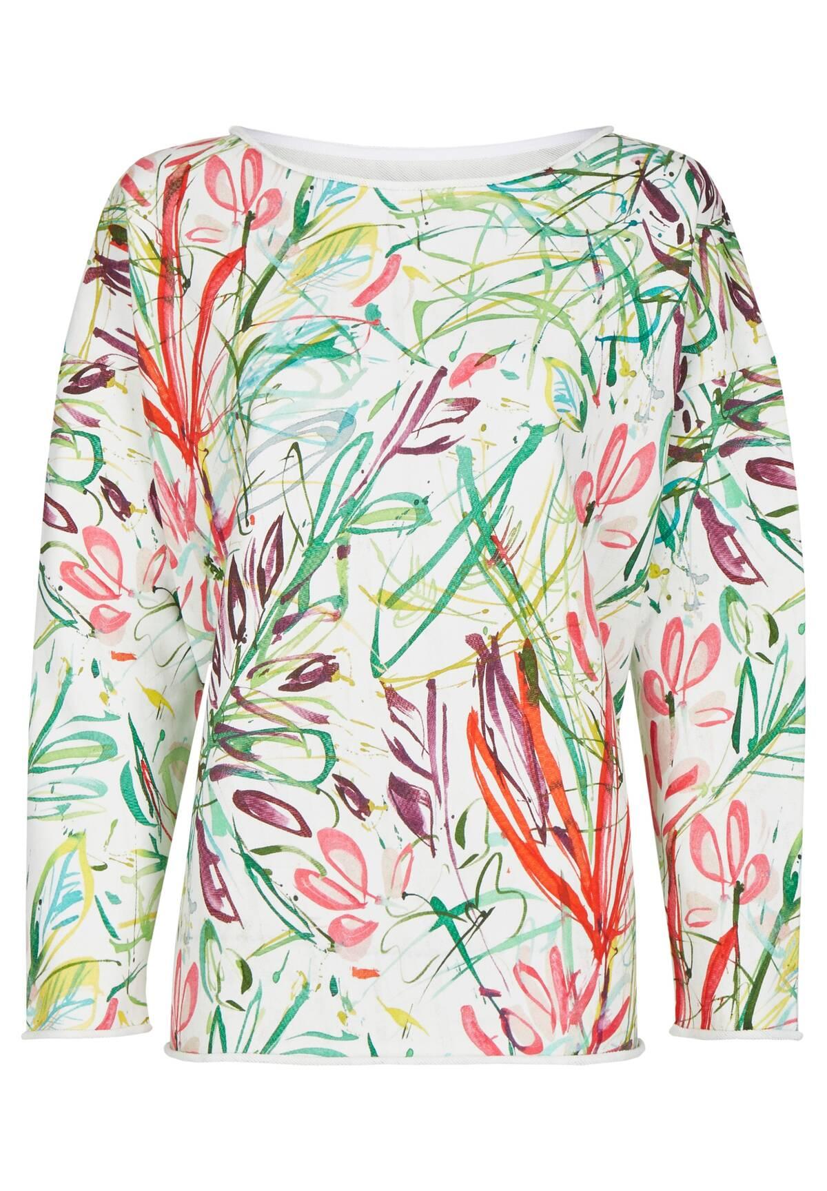 Sweatshirt fleuri /