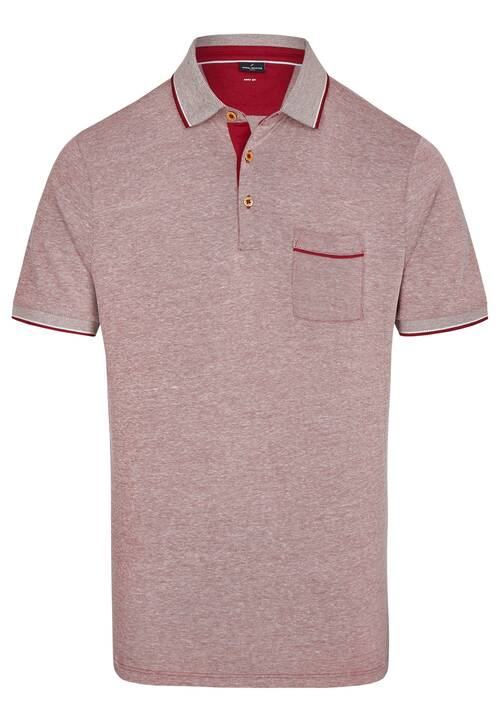 POLO PIQUEE, dark red
