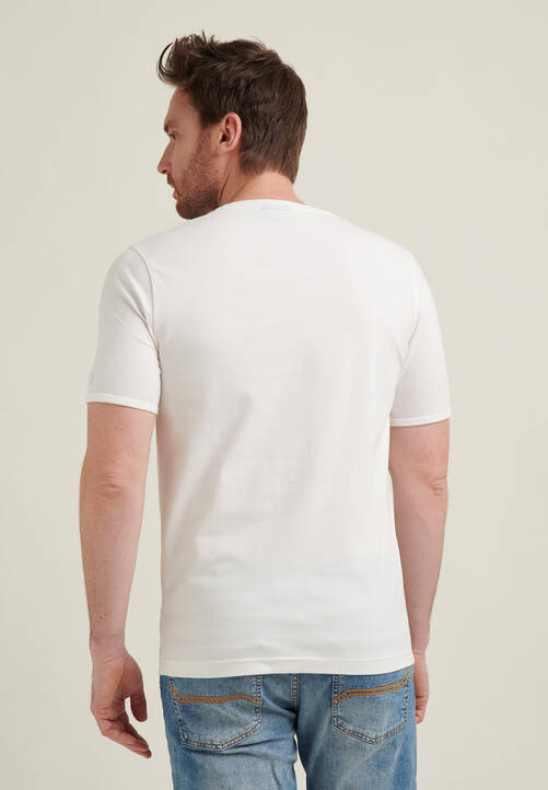 T-SHIRT PLACED PRINT, white