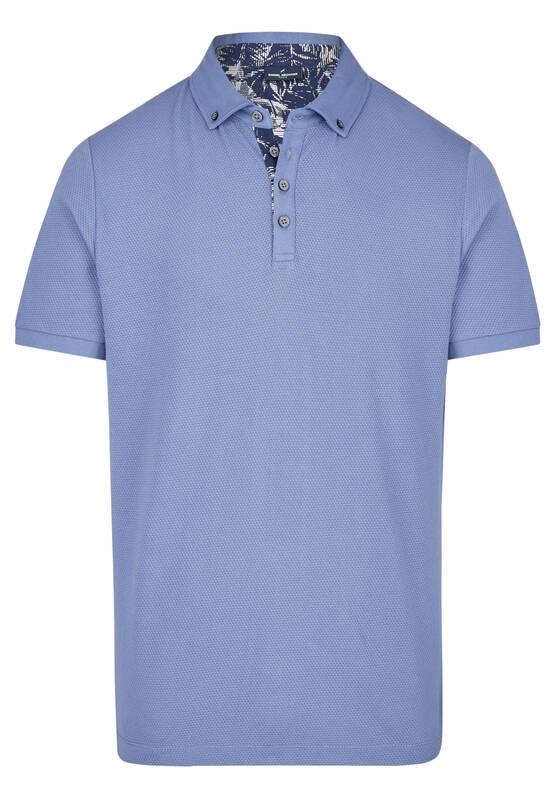 Artikel klicken und genauer betrachten! - Dieses moderne Polo-Shirt besticht mit seiner stylischen Wabenstruktur. Die moderne Struktur dieses Halbarmshirts aus Baumwolle sorgt für ein angenehmes Tragegefühl. Der Polokragen ist im trendigen Button Down-Style gehalten und lässt sich mit vier Knöpfen schließen. Diese Knöpfe und die Innenseite des Kragens sind in Kontrastfarbe und setzen damit sommerliche Akzente. Das Poloshirt ist in Modern Fit Passform geschnitten. Modell: DAH-75013-101913 | im Online Shop kaufen
