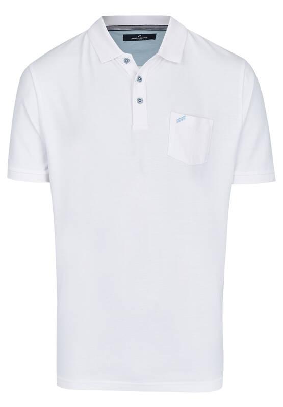 Artikel klicken und genauer betrachten! - Dieses moderne Poloshirt ist durch sein schlichtes Design ein Klassiker der sportiven Mode und vielseitig kombinierbar. Die Brusttasche mit kleiner Stickerei setzt einen modischen Akzent. Der Polokragen lässts sich mit drei Knöpfen schließen und die Ärmel münden in elastischen Bündchen. Das Shirt aus reiner Baumwolle ist in Modern Fit Passform geschnitten. Modell: DAH-75017-101916 | im Online Shop kaufen
