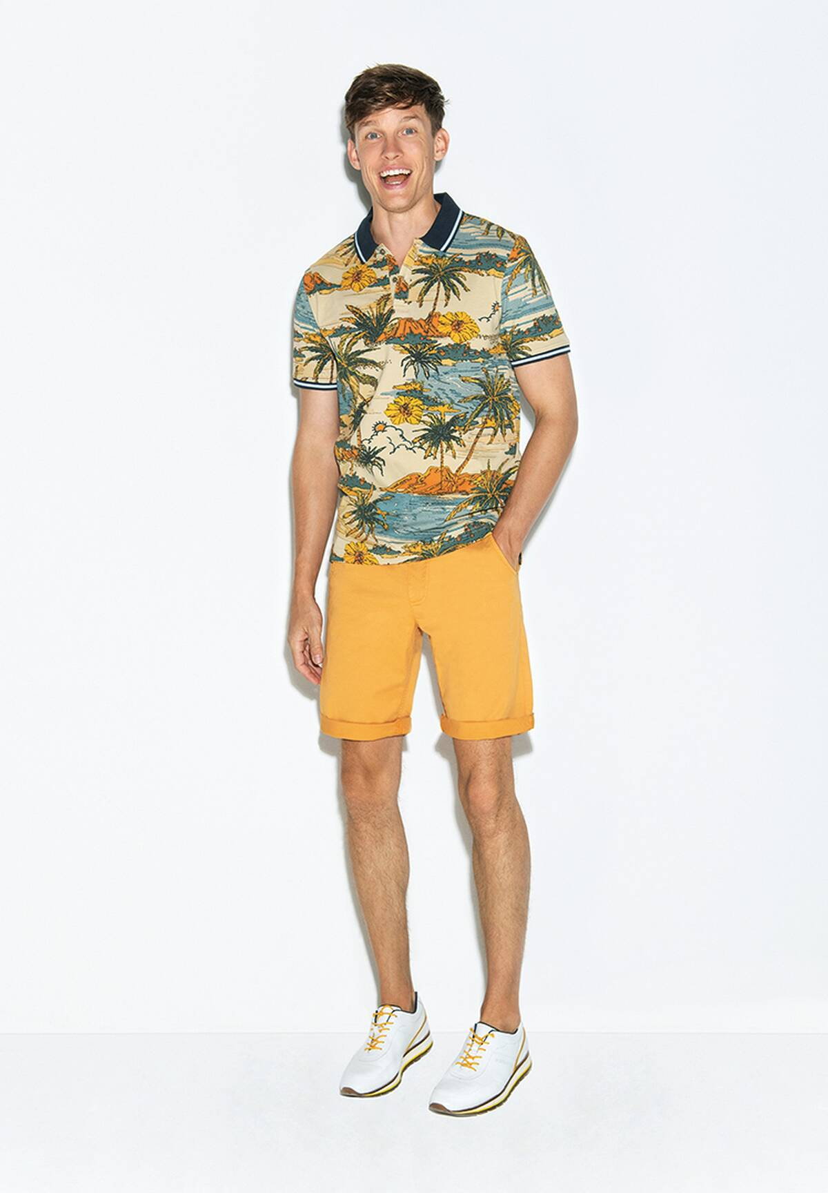 Patterned Polo / POLO PIQUEE PRINT