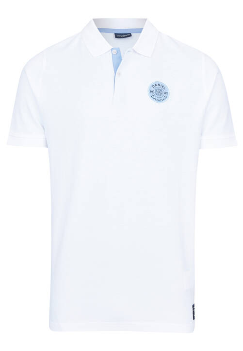 POLO PIQUEE UNI, white