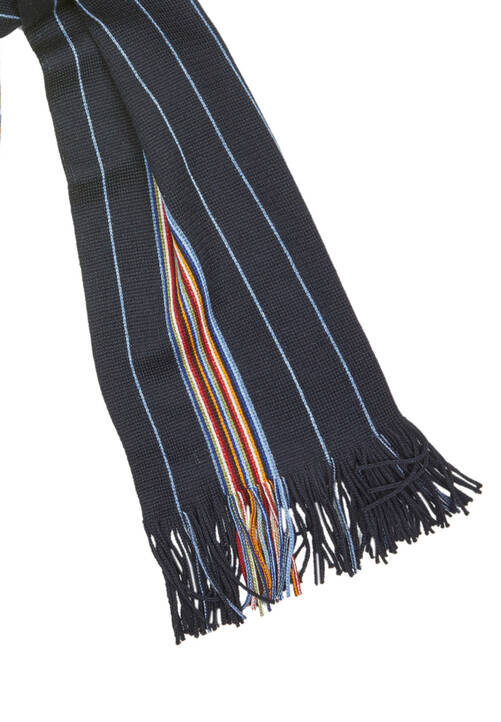 SCARF STRIPES, navy
