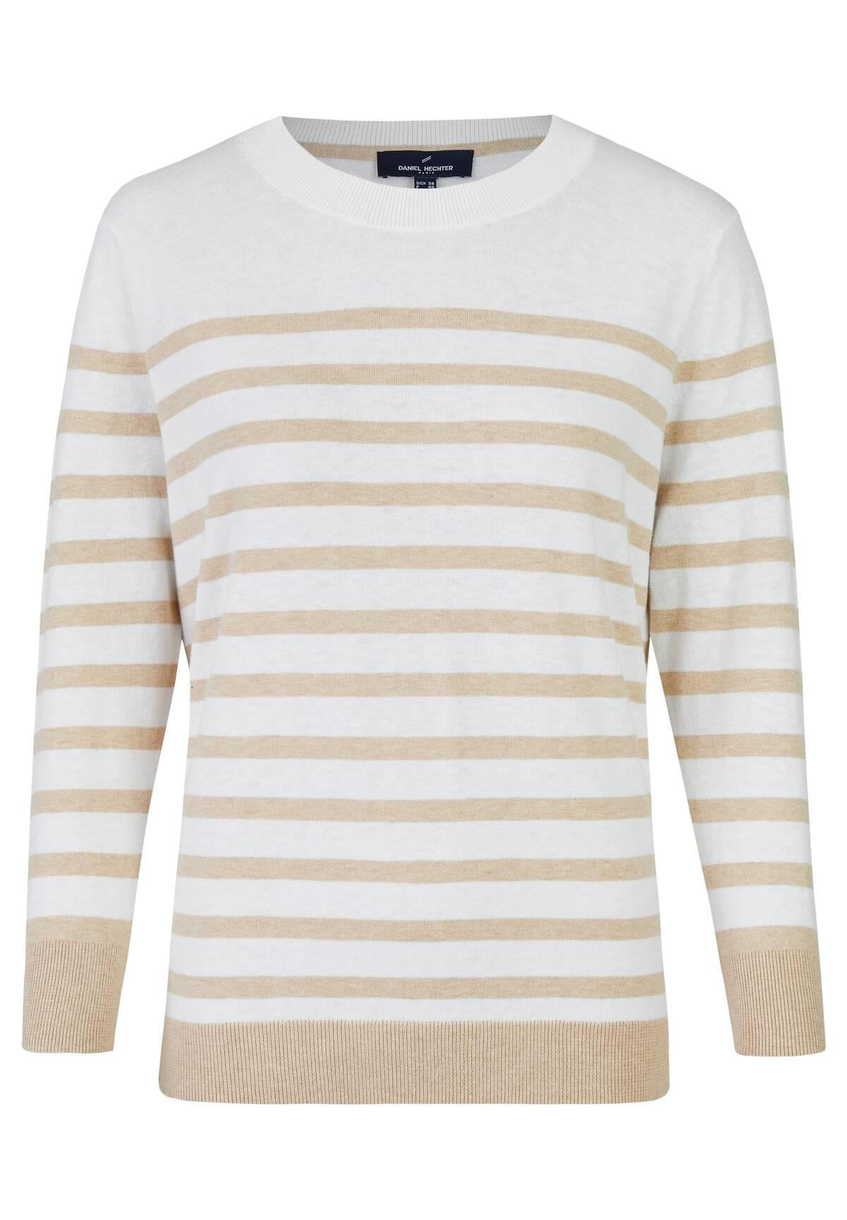 T-shirt marin en coton rayé /