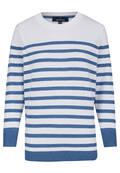 T-shirt marin en coton rayé