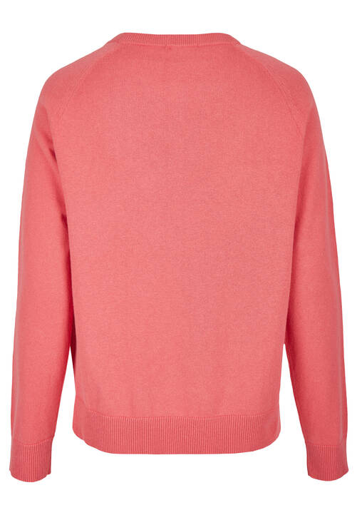 round neck jumper, peach